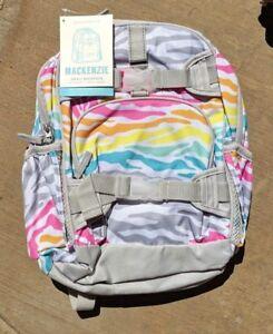 Pottery Barn Kids Mackenzie Backpack Rainbow Zebra Ebay