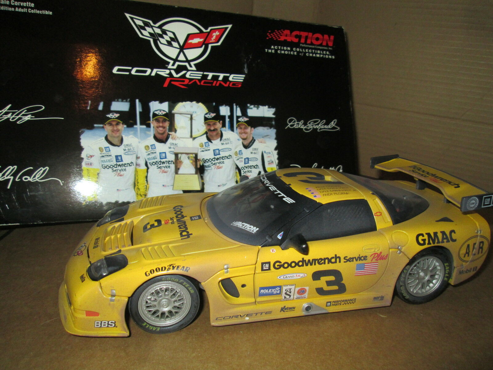 Dale Earnhardt 2001 c5 24hrs Sale couru Version 1 18 CORVETTE édition Limitée
