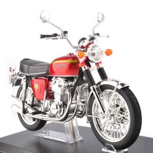 Diecast-1-12-Honda-Dream-CB750-cuatro-Rojo-Moto-Coche-Modelo-Aoshima-Motocicleta