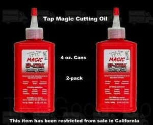 2-pack-TAP-MAGIC-CUTTING-OIL-4-oz-Spout-Top-Cans-for-Tapping-Drilling-Milling