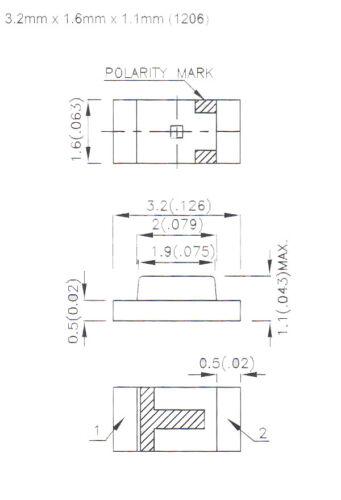 SMD LED 1206 rot diffus 50 Stück Modellbahn Modellbau Kirmesmodelle