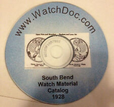 1928 South Bend Pocket Watch Material Catalog on CD