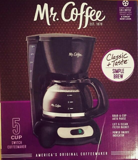 Mr Coffee Simple Brew 5 Cup Switch Coffeemaker Black ...