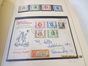 DDR-Sammlung-o-Brief-1949-1968-im-Schaubek-mit-guten-Saetzen-und-Briefen