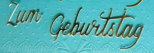 """5x Stanzteile Silber/""""Zum Geburtstag/""""Kartenschmuck Kartenaufleger  Scrapbooking"""