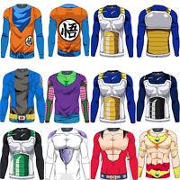 3D Anime Dragon Ball Z Goku Vegeta Super Saiyan Long Sleeve T-Shirt Jerseys Tops
