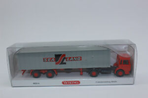 Wiking 052304 Containersatte<wbr/>lzug Sealand MAN  523 04  NEU in OVP 1:87 H0