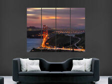 SAN FRANCISCO GOLDEN GATE BRIDGE SKY CITY USA  ART WALL LARGE IMAGE GIANT POSTER