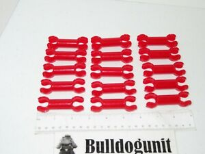 10 RED CONNECTOR CLIP Small Peg Replacement Pieces Plastic Tinker Toys Part Lot