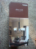 Allen + Roth 5-light Chandelier Oil-rubbed Bronze Finish Lws0333c