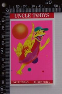 VINTAGE-1994-UNCLE-TOBYS-TIN-LIDS-DINOSAURS-IN-SPACE-ADVERTISING-PROMO-STICKER