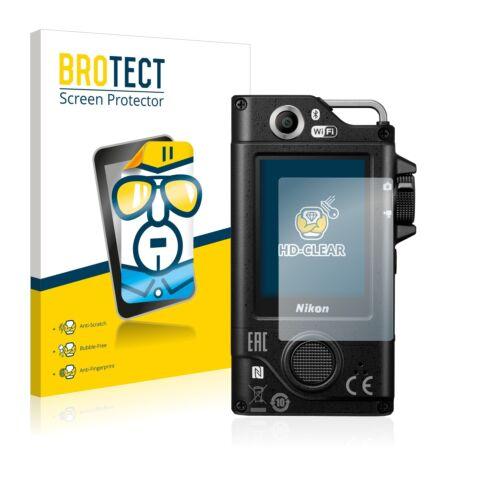 2x brotect protector de pantalla claro Nikon key misión 80 película protectora diapositiva