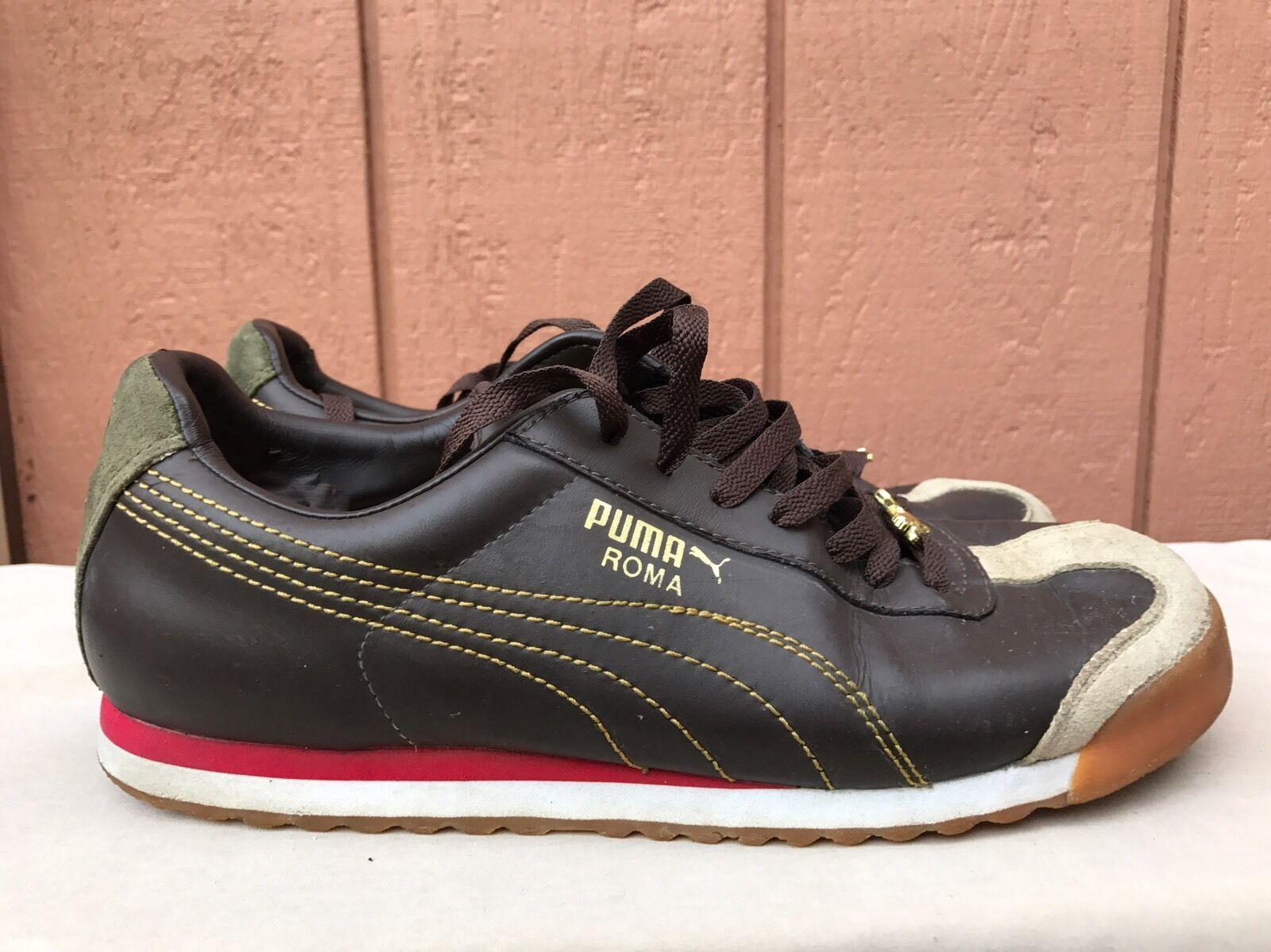 new products dfd54 ba910 ... wholesale puma classic roma basic marrón cuero retro running hombre  barato zapato sneaker us 9 barato