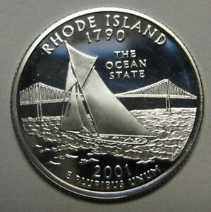 2001-S-Rhode-Island-Gem-DCAM-Silver-Proof-State-Quarter-Stunning-Coin