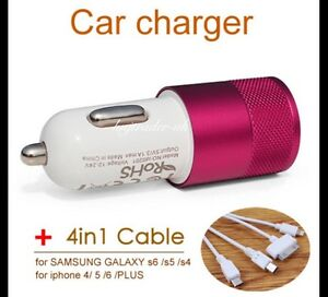 Apple-iPhone-Samsung-Galaxy-Sony-In-Car-Super-Fast-Charger-4-in-1-Usb-Cable