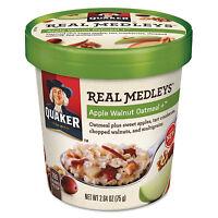 Quaker Real Medleys Oatmeal Apple Walnut Oatmeal+ 2.64oz Cup 12/carton 15504 on sale