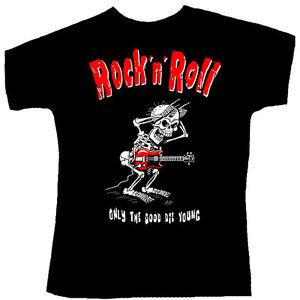 Rock-You-T-Shirt-Gr-XL-Rock-n-Roll-Only-the-good-die-young-Geschenk-fuer-Musiker