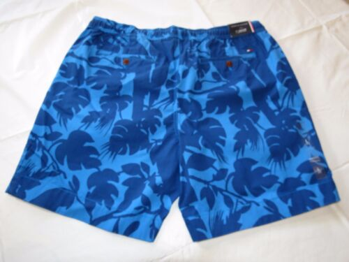 Men/'s Tommy Hilfiger L large shorts 78B3756 461 blue navy blue leaves casual TH