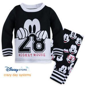 Disney Store Baby Boys Mickey Mouse PJ PAL Collegiate Pajama Set 3 6 ... 067cde716