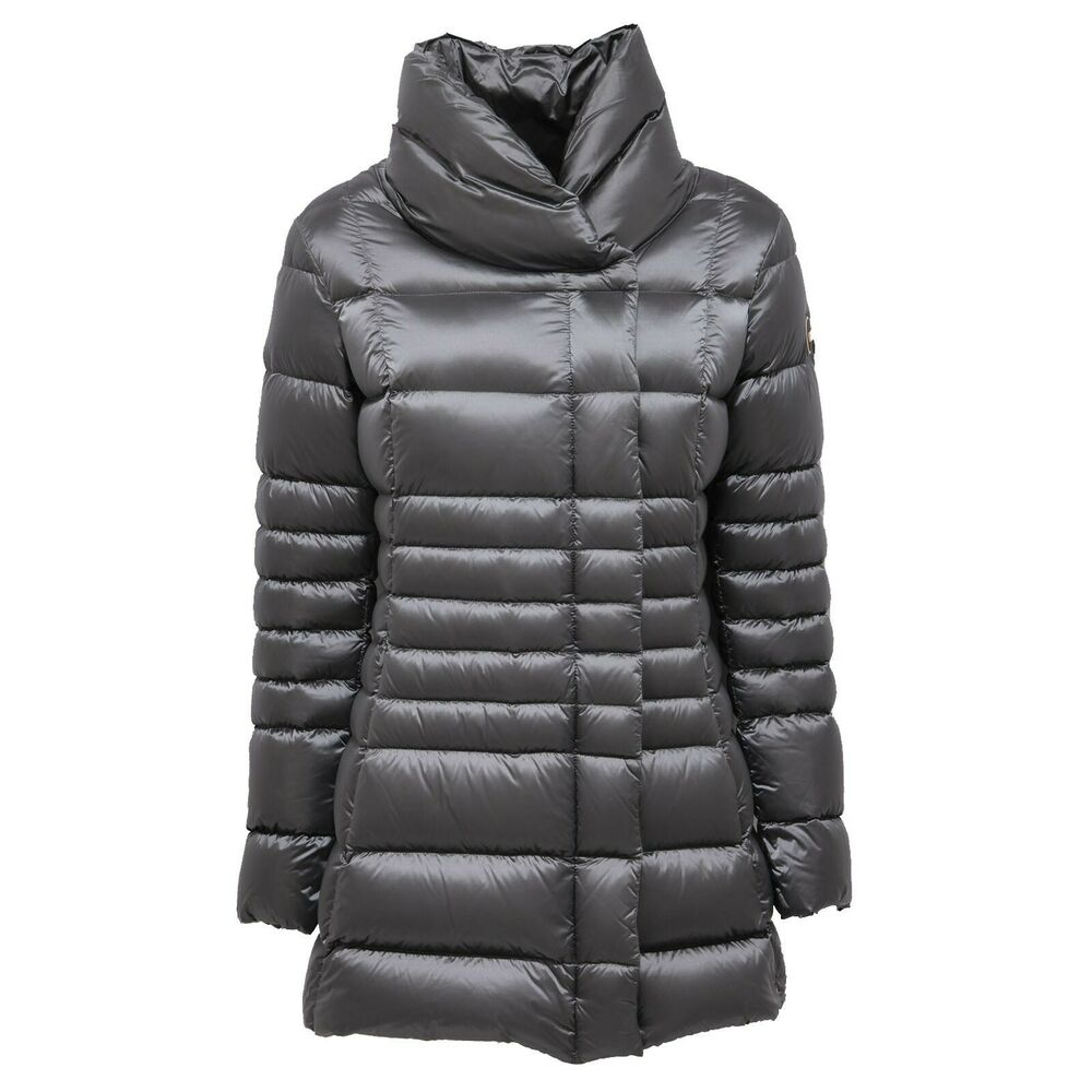 7505ab Piumino Lungo Colmar Giubbotto Grey/silver Long Jacket Women