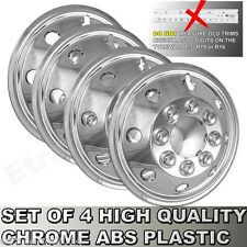 "16"" Chrome Van Wheel Trims Motorhome RV American Style Hub Caps X 4 Domed New"