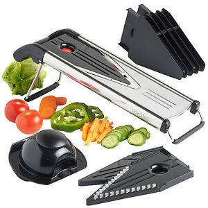 Details About Vonshef Mandoline Slicer Vegetable Cutter Grater Fruit V Blade 5 Blades Julienne