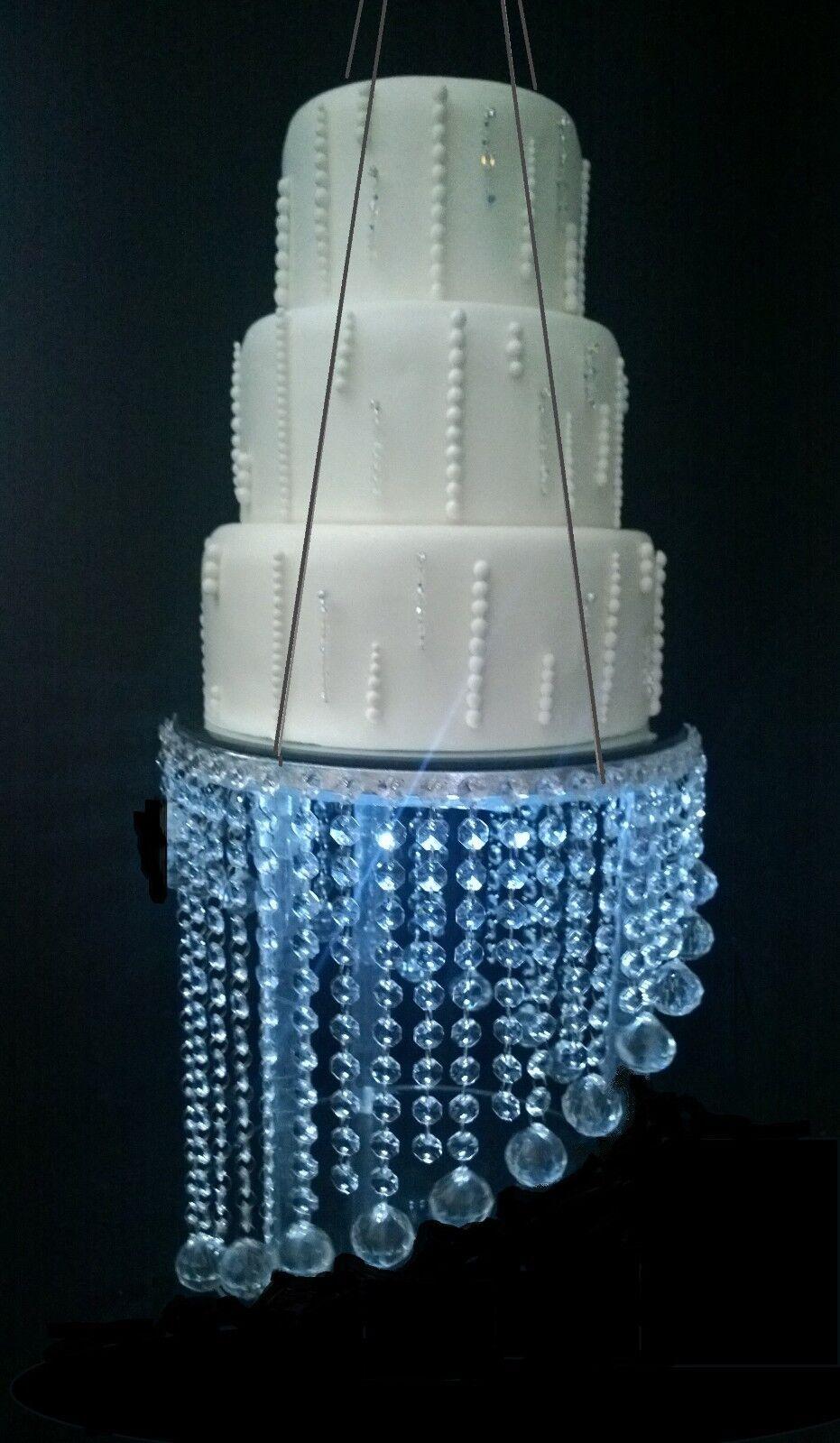 SFERA SFERA SFERA di cristallo Pendente Lampadario sospeso SWING STAND torta nuziale f1b077