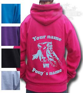 Cadeau personnalisé cheval Sweat à capuche- pony gymkhana Kid's adultes monté jeux-afficher le titre d`origine WhQXbWYs-07135642-483008256
