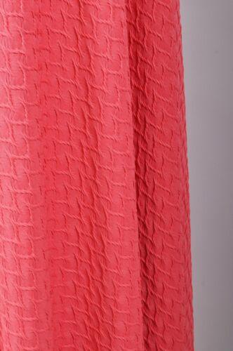 Coral Hermoso Vestido Elástico Tela De Jersey De Punto Jacquard Interior Crafts