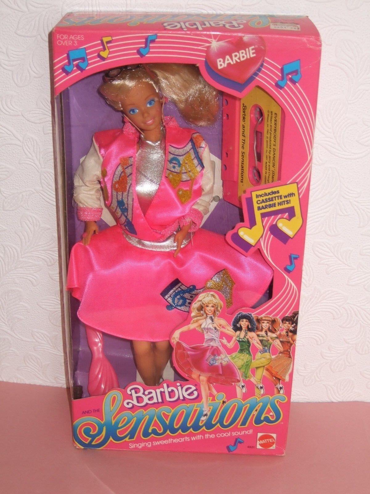 HTF VINTAGE VINTAGE VINTAGE Barbie NRFB 1987 Sensations Lovely doll 43b2f9
