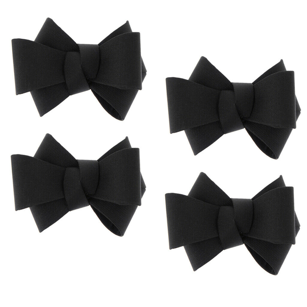2 Pairs Of DIY Bow Tie Applique Shoe Decoration, Accessories For Wedding Bridal