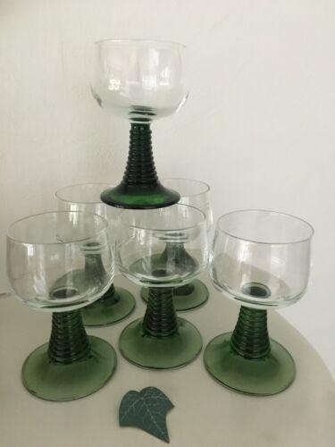 6 Schott-Zwiesel Weinrömer 0,1l Weinglas grüner Fuß Form Nr. 2008 NEU OVP