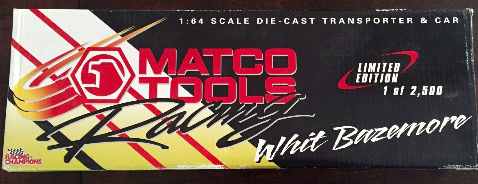 Racing Champions Matco Tools Whit Bazemore 1 64 Transporter Funny Car Hauler