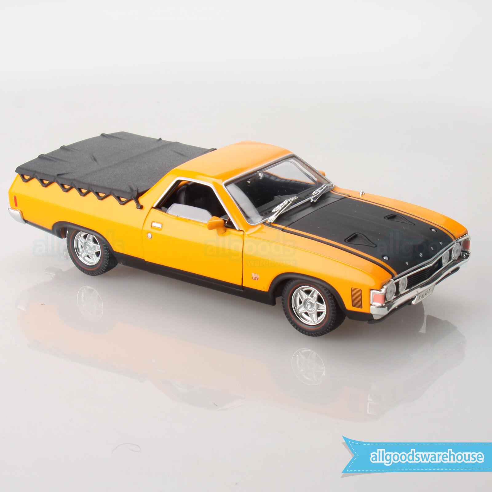 Ford Falcon XA 351 GT Ute 1 32 Scale Aussie Classic Diecast Car Yellow Fire