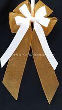 10 Antennenschleifen Autoschleifen Antennenschleife Hochzeit orange weiß