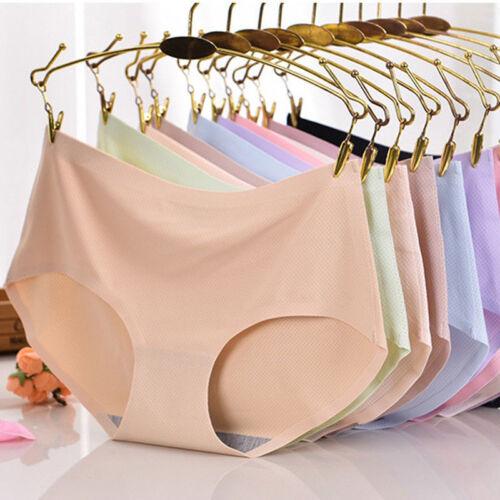Women Soft Underpants Seamless Lingerie Briefs Hipster Underwear Panties Soft YC