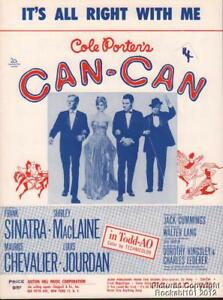 1960-Cole-Porter-Film-Can-Can-Notenblatt-It-039-s-Alle-Rechts-With-Me