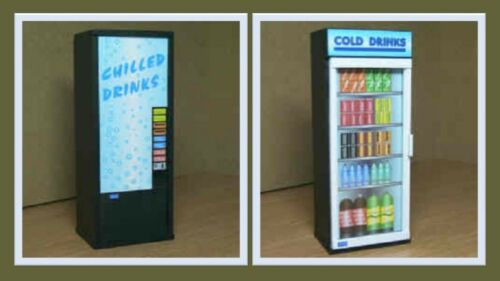 1:12 scale dolls house miniature modern cold drinks machine 2 to choose from.