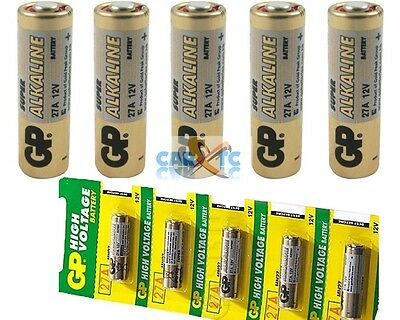 5-Pack 27A 12V Alkaline Battery