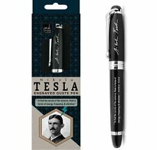 "Nikola Tesla Engraved Quote Pen - ""To Find the Secrets of the Universe, Think in"