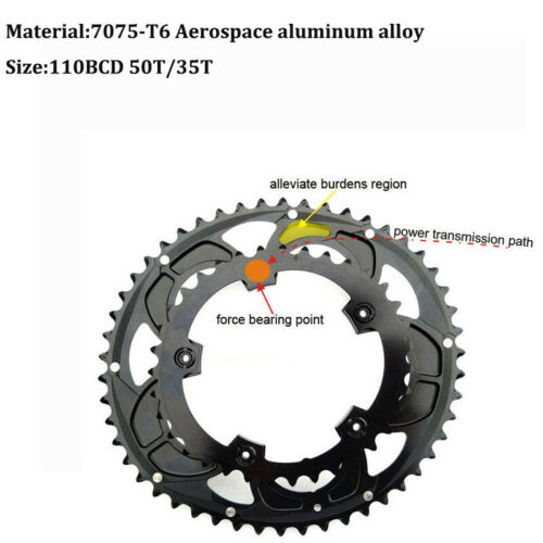 US 35//50T Double-Speed MTB Bike Oval Chainring  Fit SHIMANO//SRAM 110bcd Crankset