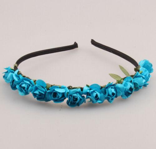 Mode Rose Blume Krone Fest Stirnband Hochzeit Girlande Blumenmuster Haarband