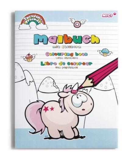 NICI Einhorn Theodor /& Friends Schulsortiment Schule Activity Book Anspitzer uvm