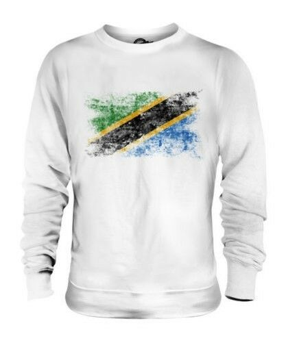 Tansania Distressed Flagge Unisex Pullover Top Tansanisch