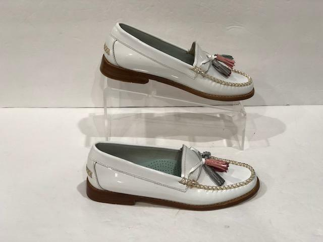 BASS WEEJUNS WILLOW bianca Patent Tassel Loafers
