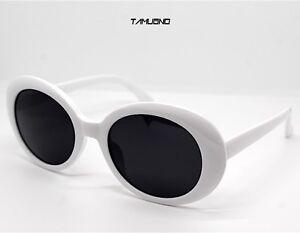 Sole Lente Sunglasses Bianco Nera Da Ovale Stile Occhiali Kurt n0P8wOk