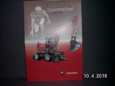 Baugewerbe Business & Industrie Humor Neuson 9503 Mobil Bagger Prospekt/broschÜre 18 Seiten Alt&rar Hohe Sicherheit