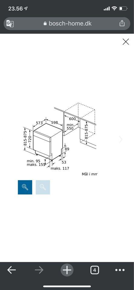Bosch SMU46KW01S, fritstående, energiklasse A++