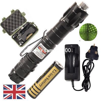 900Miles 532nm Green Laser Pointer Pen Presentation Lazer+18650+Charger UK Stock