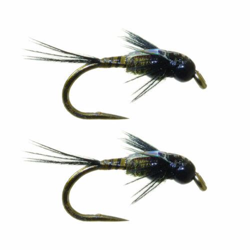 Umpqua Two Bit Hooker Dark Olive Tungsten 2 Pack Nymph Fly Fishing Flies